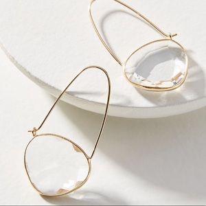 🔥NEW🔥Anthropologie Noelle Crescent Hoop Earrings